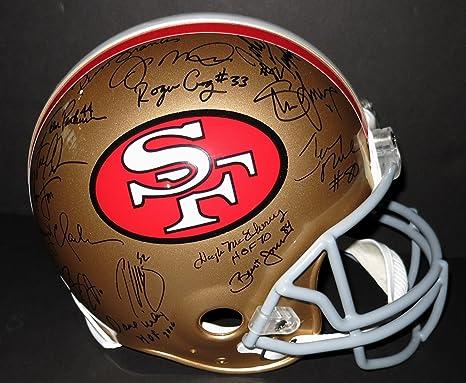 Amazon.com  San Francisco 49ers Multi-Signed Team Autographed Football  Helmet  Sports Collectibles 38480eaad