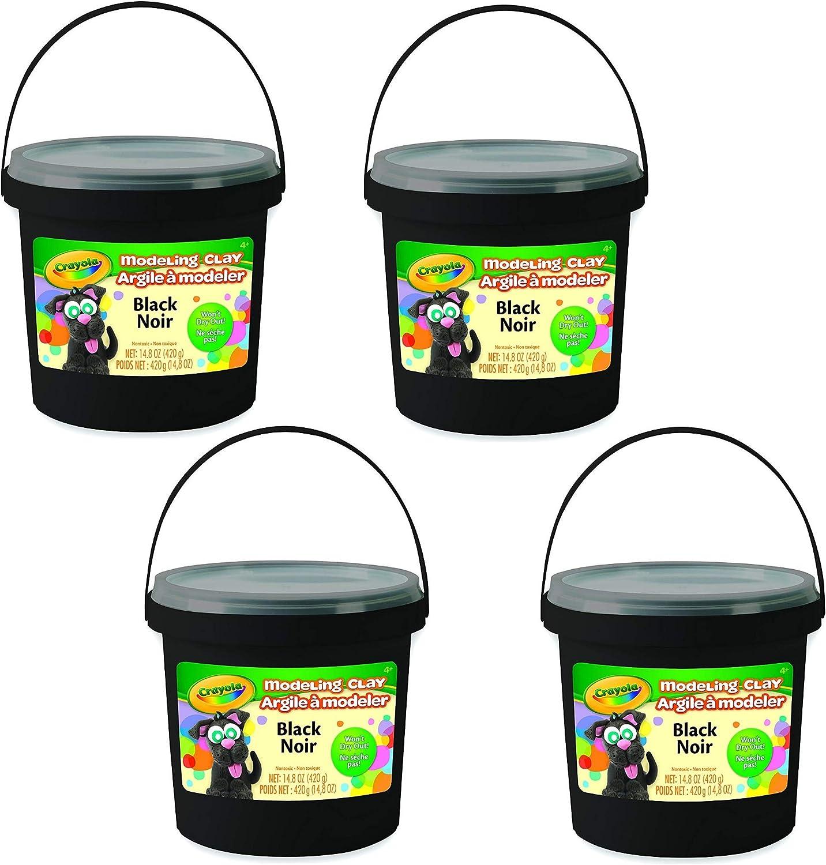 3-Pack Crayola Bulk Buy Model Magic 4 Ounces Black 57-4451