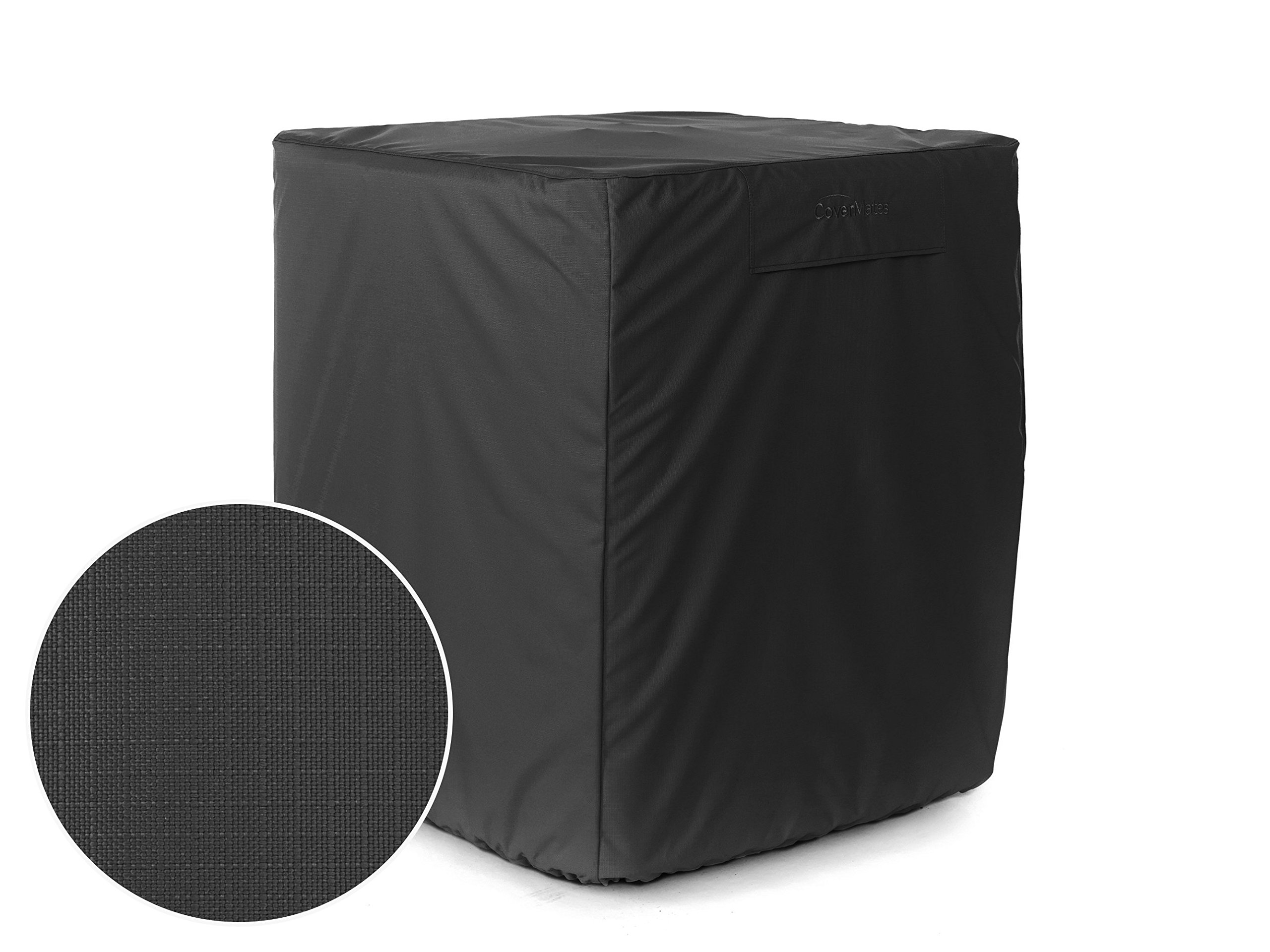 Covermates - Air Conditioner Cover - Fits 24 Width x 24 Depth x 30 Height - Ultima Ripstop - 600D Polyester - Covered Vent - Middle/Bottom Buckle Strap - 7YR Warranty - Water Resistant - Ripstop Black