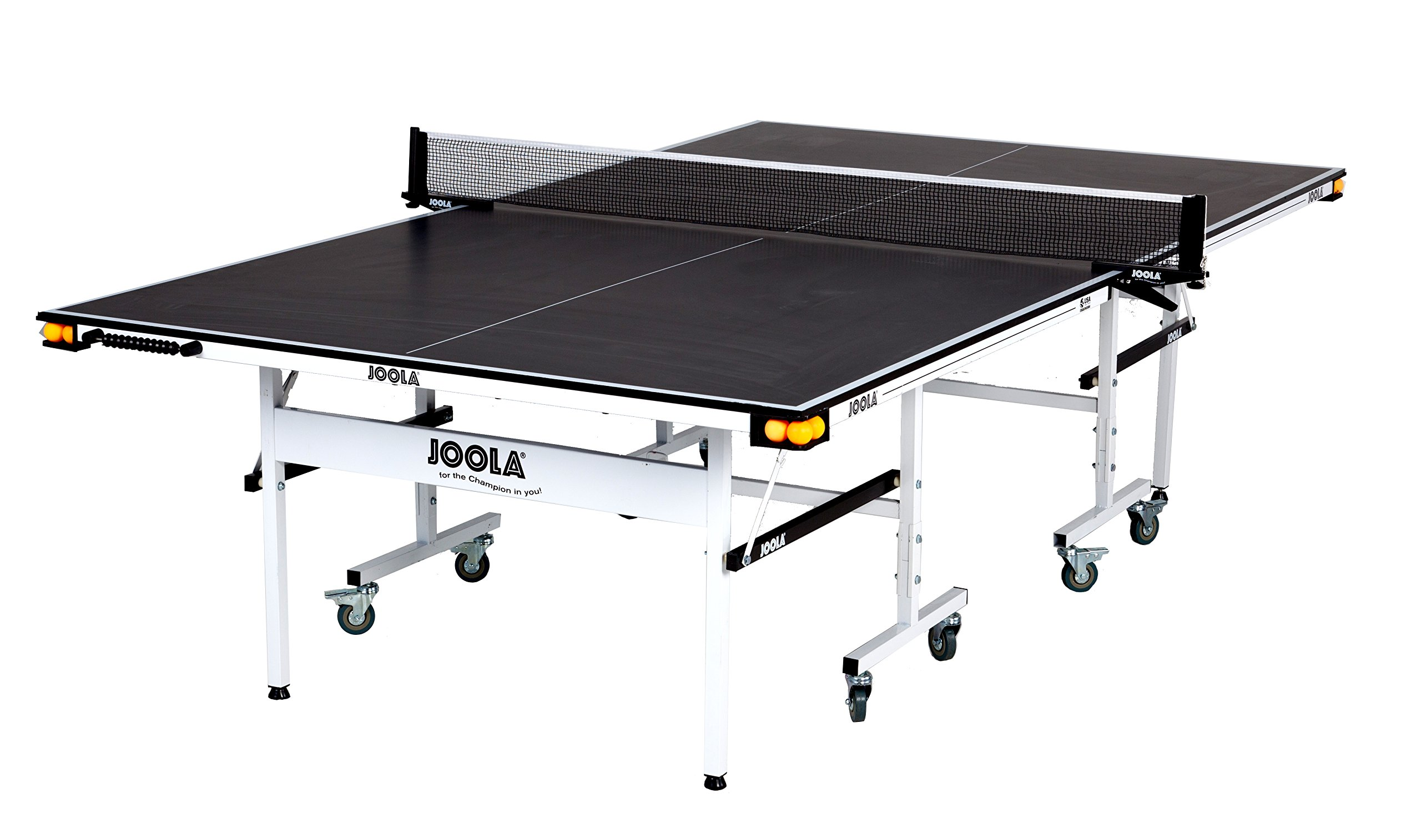 JOOLA Rally TL 300 15mm 5/8 Inch Professional Grade Table Tennis Table with Net Set, Ball Holders and Abacus Scorer by JOOLA