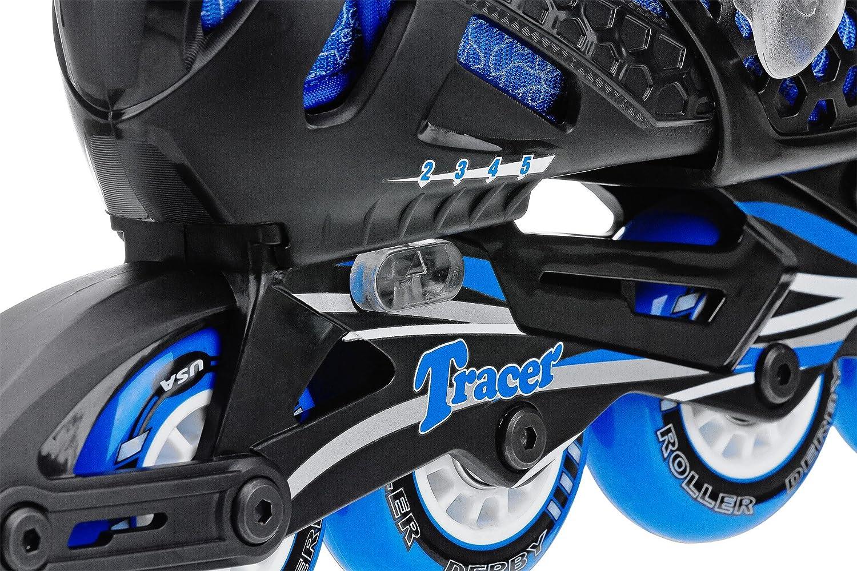 Roller skates helmet - Amazon Com Roller Derby Boy S Tracer Adjustable Inline Skate Childrens Inline Skates Sports Outdoors