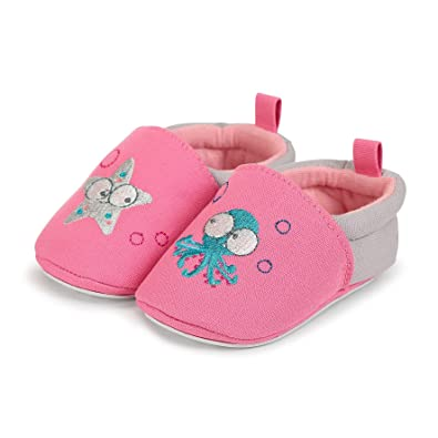 Sterntaler Baby Girls  Baby-krabbelschuh Slippers Pink Size  3-6 Months UK a3ed1982d