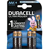 Duracell - Pile Alcaline Ultra Power - AAA - 4 Piles