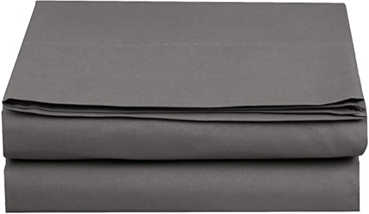 Luxury and Softest 1500 Thread Count Egyptian Quality Bedding Flat Sheet Full Stain-Resistant 100/% Hypoallergenic Elegant Comfort Wrinkle-Free Premium Hotel 1-Piece Black