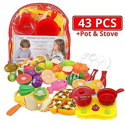 Amazon.com: Juguetes de cocina para cortar frutas y verduras ...