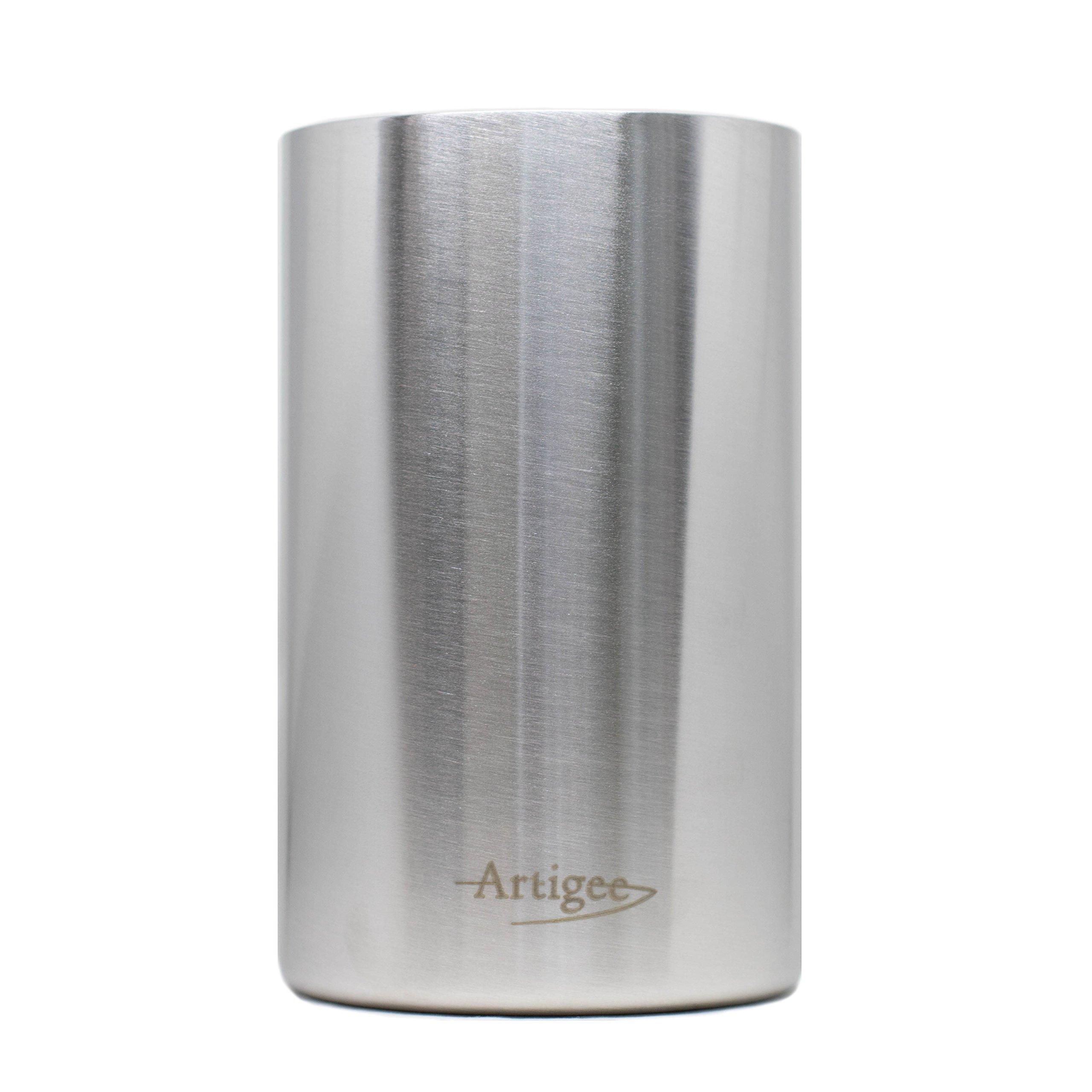 ARTIGEE Wine Cooler Bucket | Premium Grade 18/8 Stainless Steel Double Wall Wine Bottle Chiller