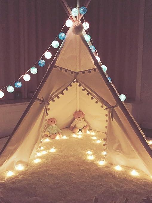 Kinder Tipi Zelt mit 5 Stangen, Spielzelt, Kinder Tipi ...