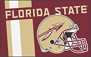 "FANMATS 18739 Florida State Uniform Inspired Starter Rug, Team Color, 19"" x 30"""