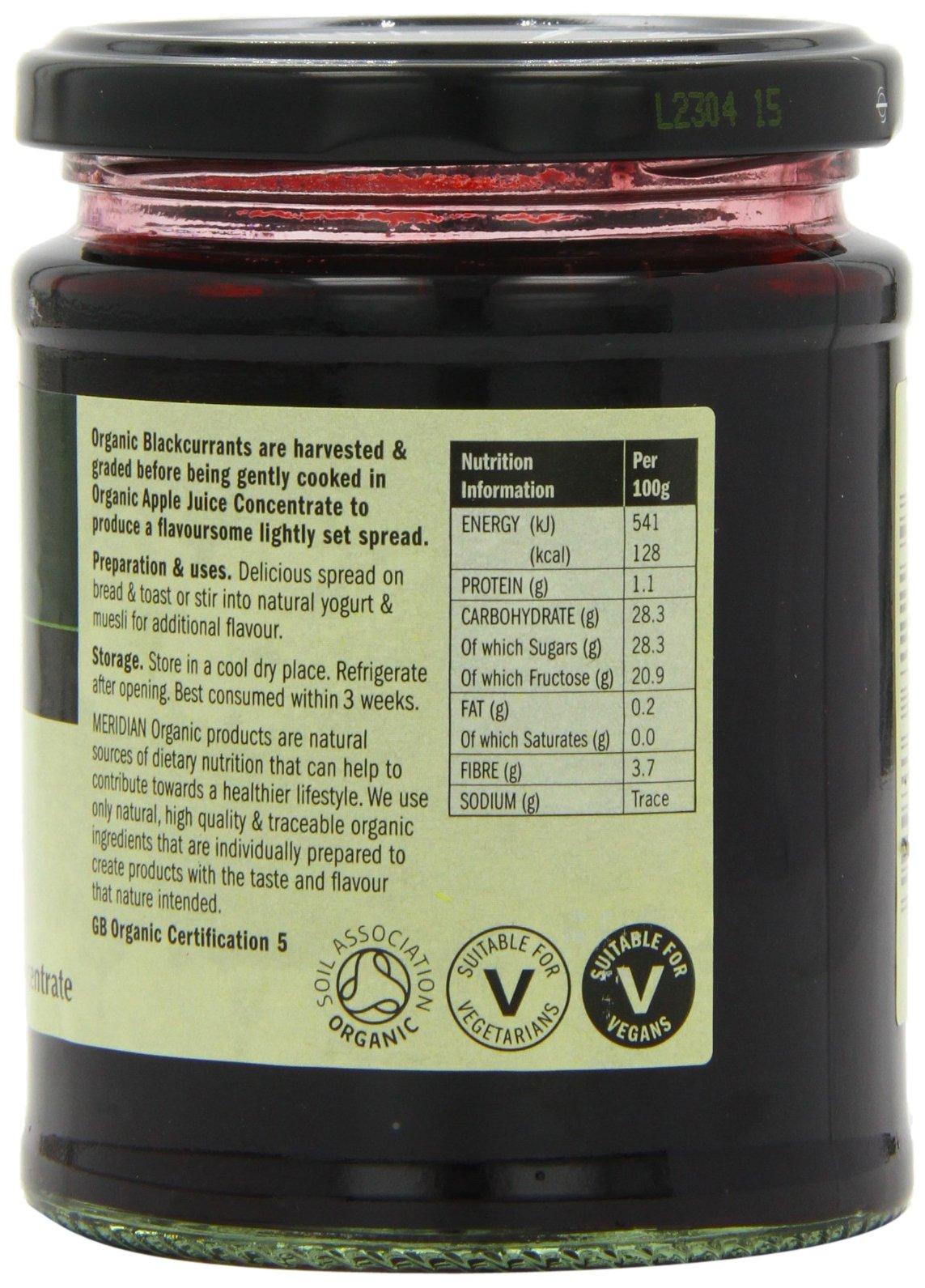 Meridian Organic Blackcurrant Fruit Spread 284 g (Pack of 6) by Meridian (Image #4)