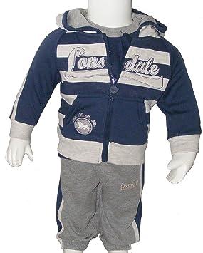 1c7df44fb8546 Lonsdale ensemble survêtement jogging garcon bébé Sweat + Pantalon + T Shirt  3 pieces ( 18
