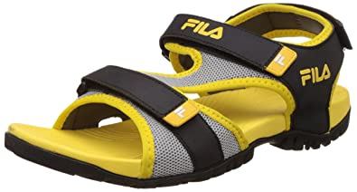 Black and Yellow Sandals and Floaters