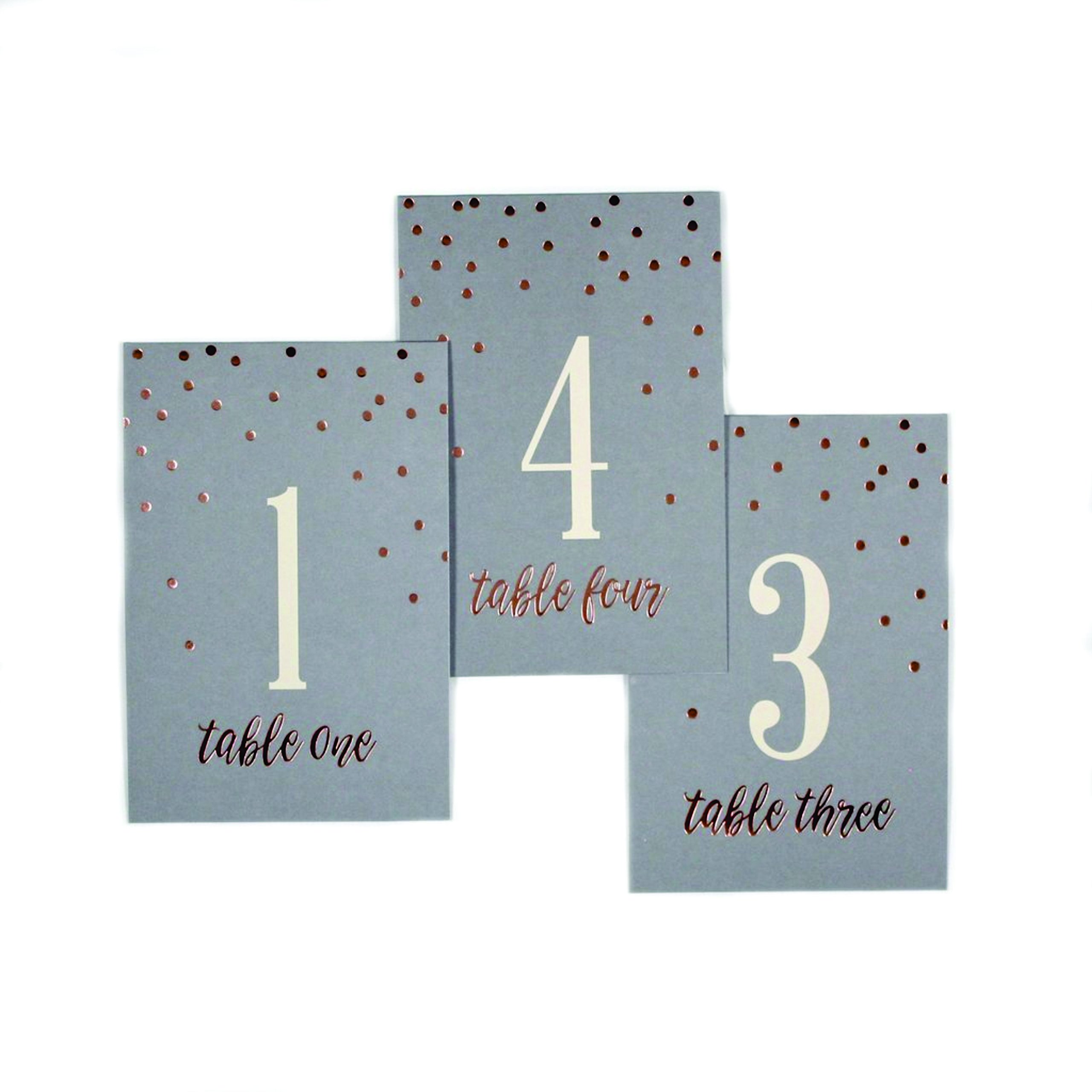 Paper Love Set of 24 Grey Glam Wedding Table Numbers with Gold Foil by Paper Love (Image #1)