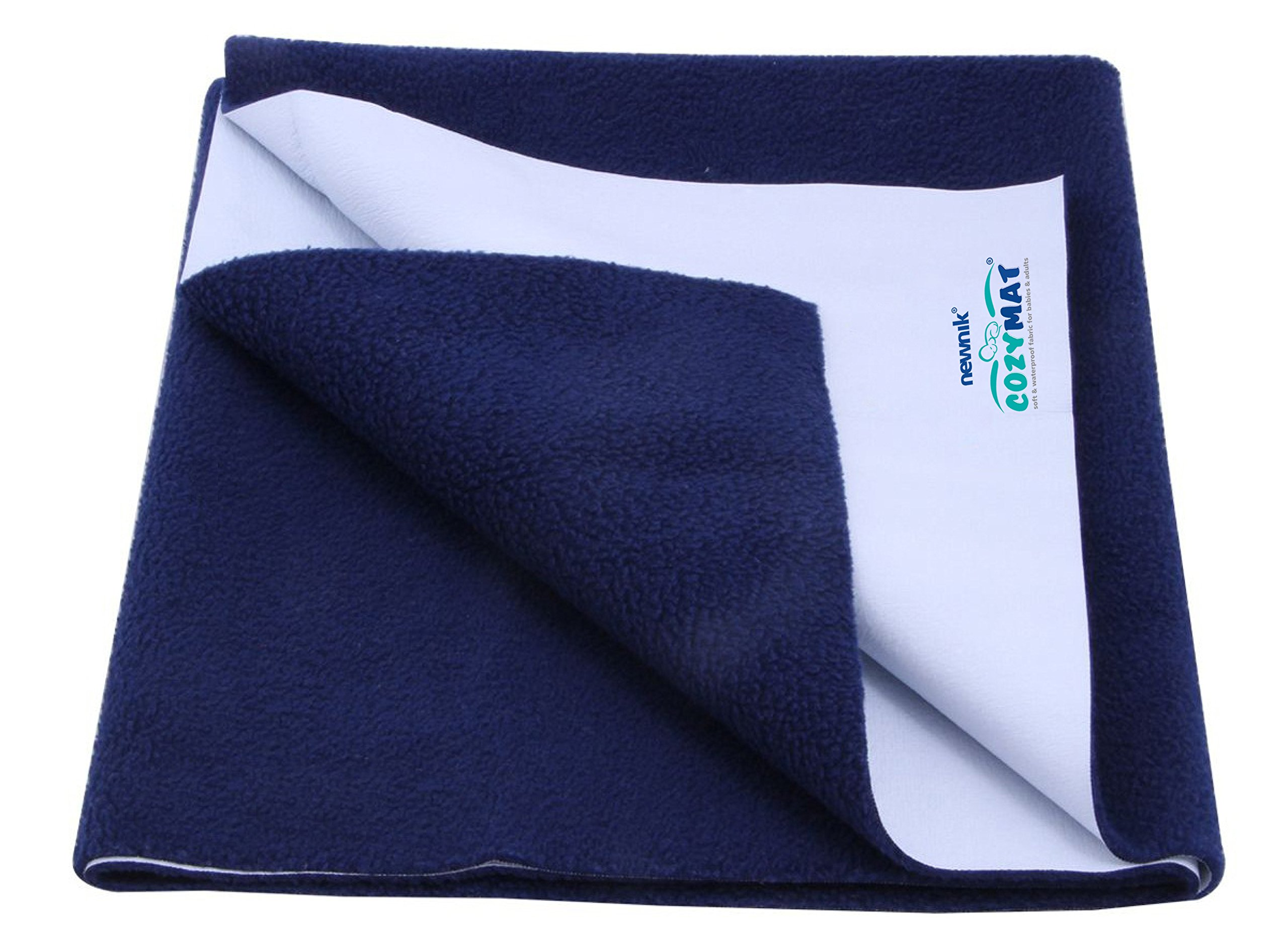 Cozymat Dry Sheet Waterproof Breathable Bed Protector (Size: 70cm X 100cm) Navy Blue, Medium by cozymat