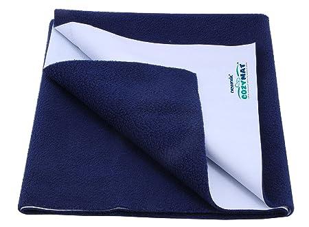 Cozymat Dry Sheet waterproof breathable Bed Protector (Size: 70cm X 100cm) Navy Blue, Medium