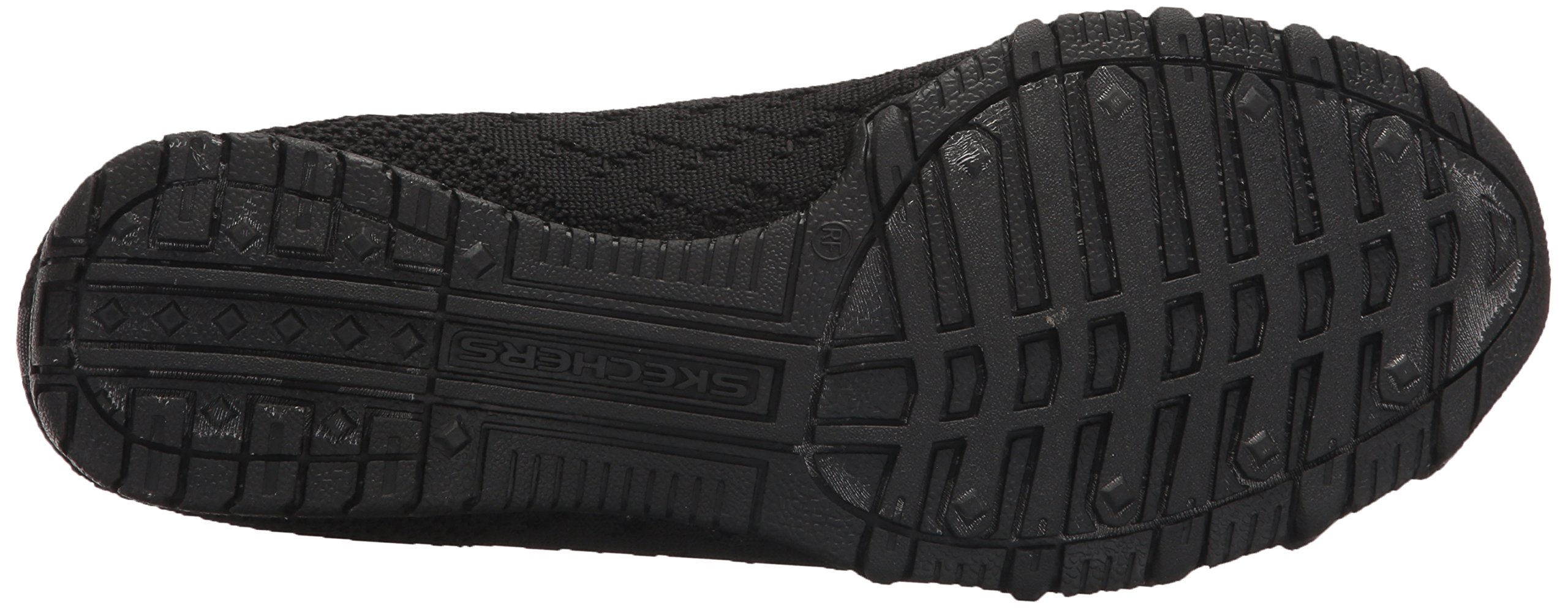 Skechers Women's Bikers-Witty Knit Ballet Flat, black, 10 Extra Wide US by Skechers (Image #3)