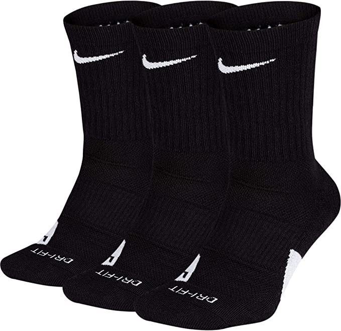 NIKE Elite Basketball Crew Socks 3 Pack