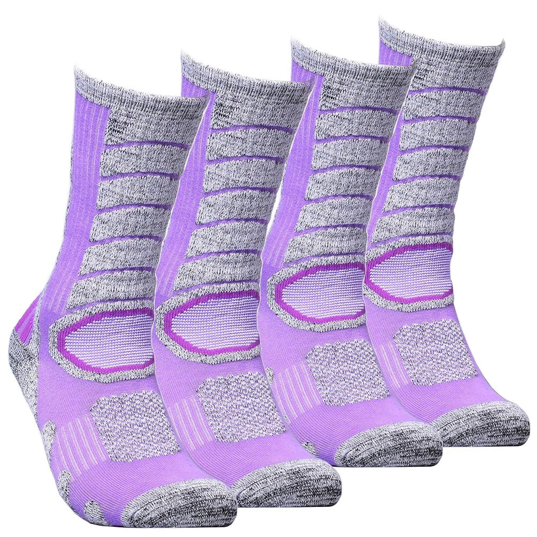 WEIERYA SOCKSHOSIERY レディース B074CJYM6H  Purple2 Pairs L(Women Shoe 710.5 US Size)