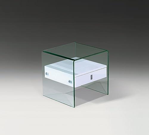 Neos Modern Furniture ET051-Wht End Table, White