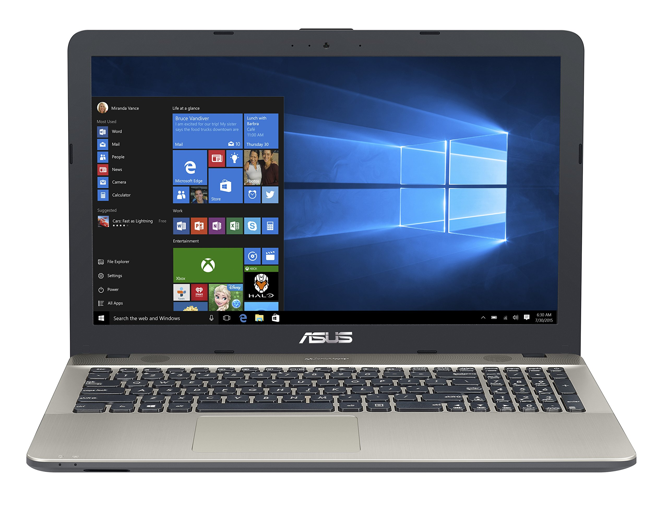 2018 Asus VivoBook Max 15.6 inch HD High Performance Laptop PC | Intel Pentium N4200 Quad-Core | 4GB RAM | 500GB HDD | Bang & Olufsen Audio | USB Type-C | DVD +/-RW | Windows 10 1