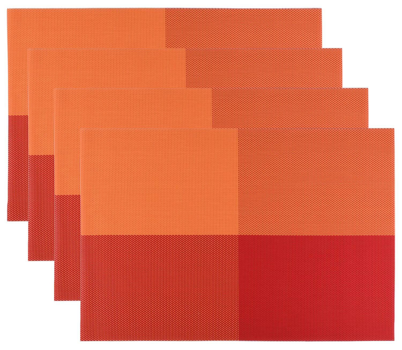 Manteles Individuales (Paquete de 4) Antidesgaste y Lavable y Resistente Al Calor Antideslizante Fácilmente Almacenado / Muebles de Estilo En Kitchen De Larga Duración y Textilene Duradera y Fácilmente Almacenado HOGAR AMO Place mats NX00054/55