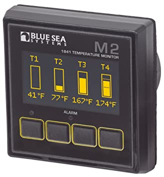 Amazon com: Blue Sea Systems 1841 Monitor M2 OLED Temp