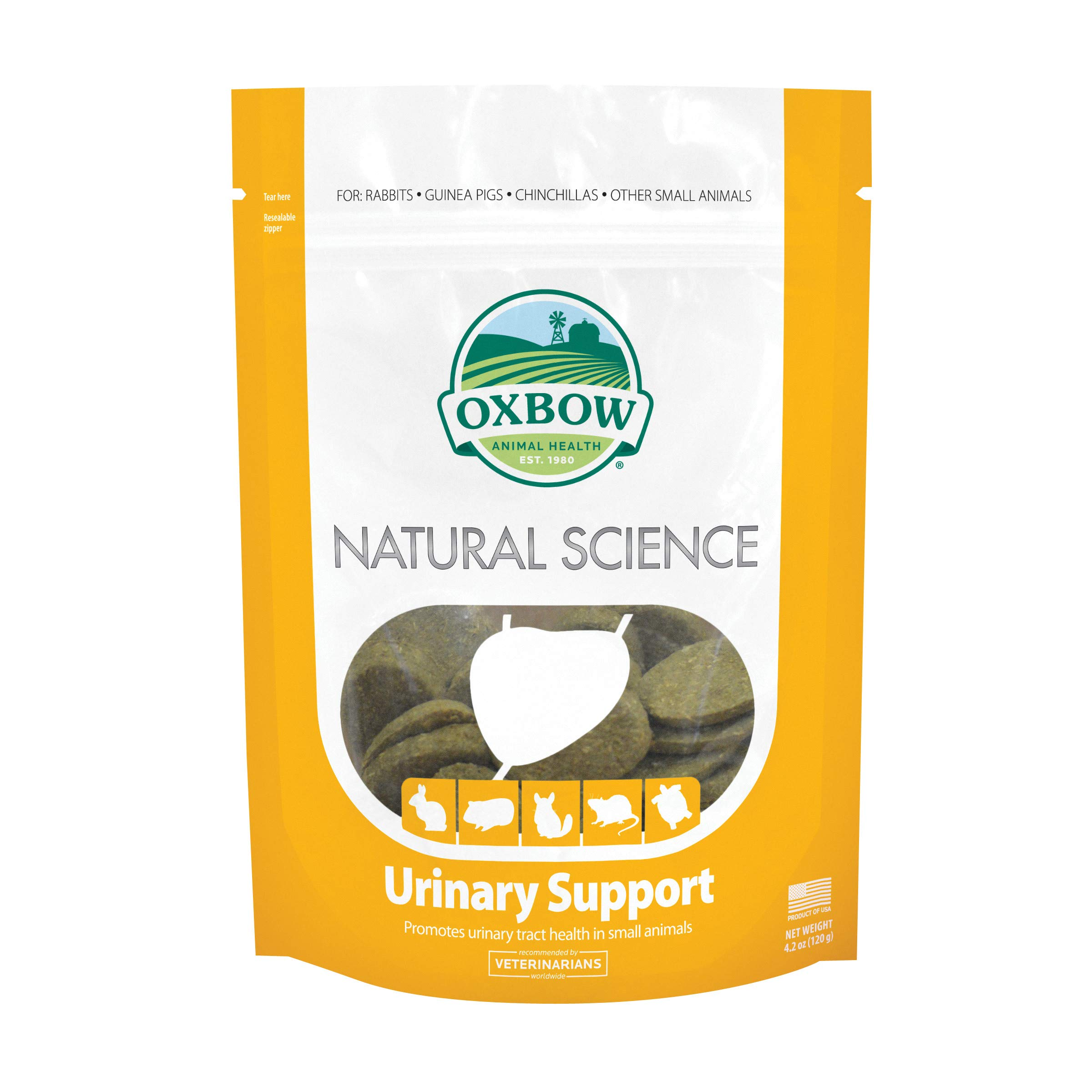 Oxbow Natural Science Urinary Supplement - Renal & Urinary Tract Health Supplement for Small Animals, 4.2 oz.