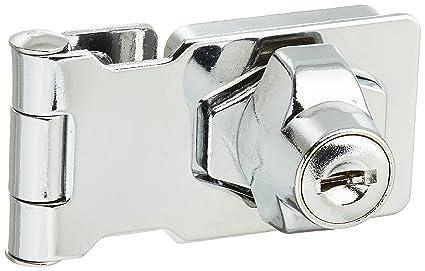 Closet Door Chrome Plated Metal Keyed Hasp Lock 2.5u0026quot; ...