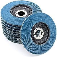 Professionele lamellschijven │ blauw │ 20 stuks │ Ø 115 mm │ Mixpack (elk 5 x korn 40/60/80/120) │ Inox │ Slijpschijven…