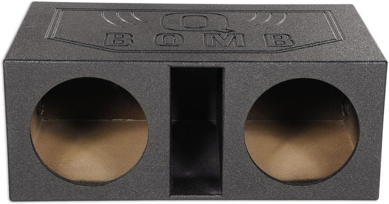 Rockville Dual 12 2.25 cu Vented Subwoofer Sub Box Enclosure w//Bed Liner ft