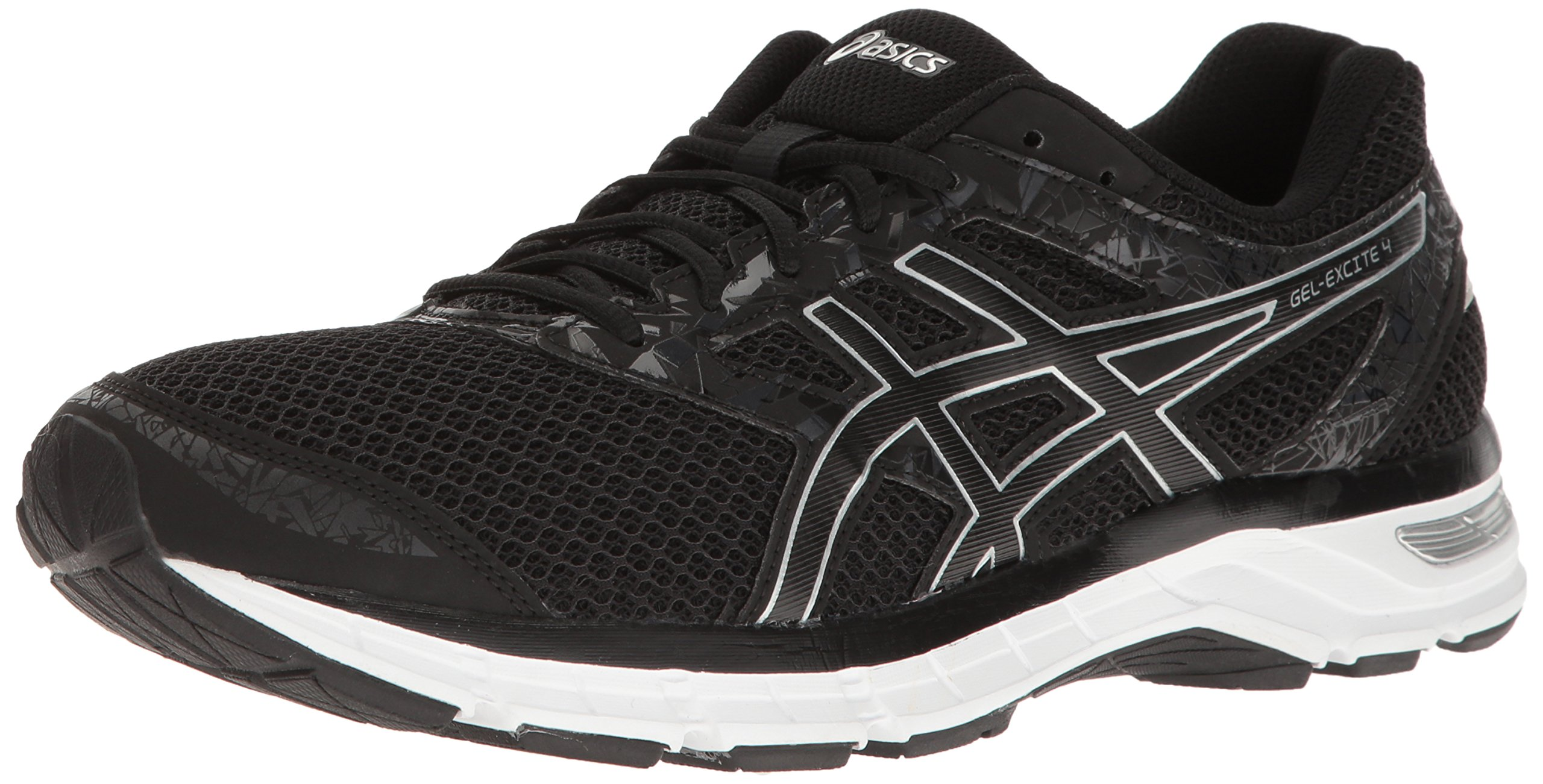 ASICS Men's Gel Excite 4 Running Shoe, BlackOnyxSilver, 14 M US