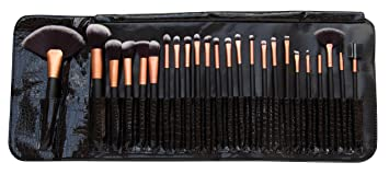 Rio Professionelles Kosmetik Make Up Pinsel Set 24 Teile Amazon