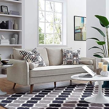 Amazon.com: Modway Revive Sofá de tela tapizado, Tela ...