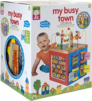 Alex Toys Alex Jr. My Busy Town Wooden Activity Cube