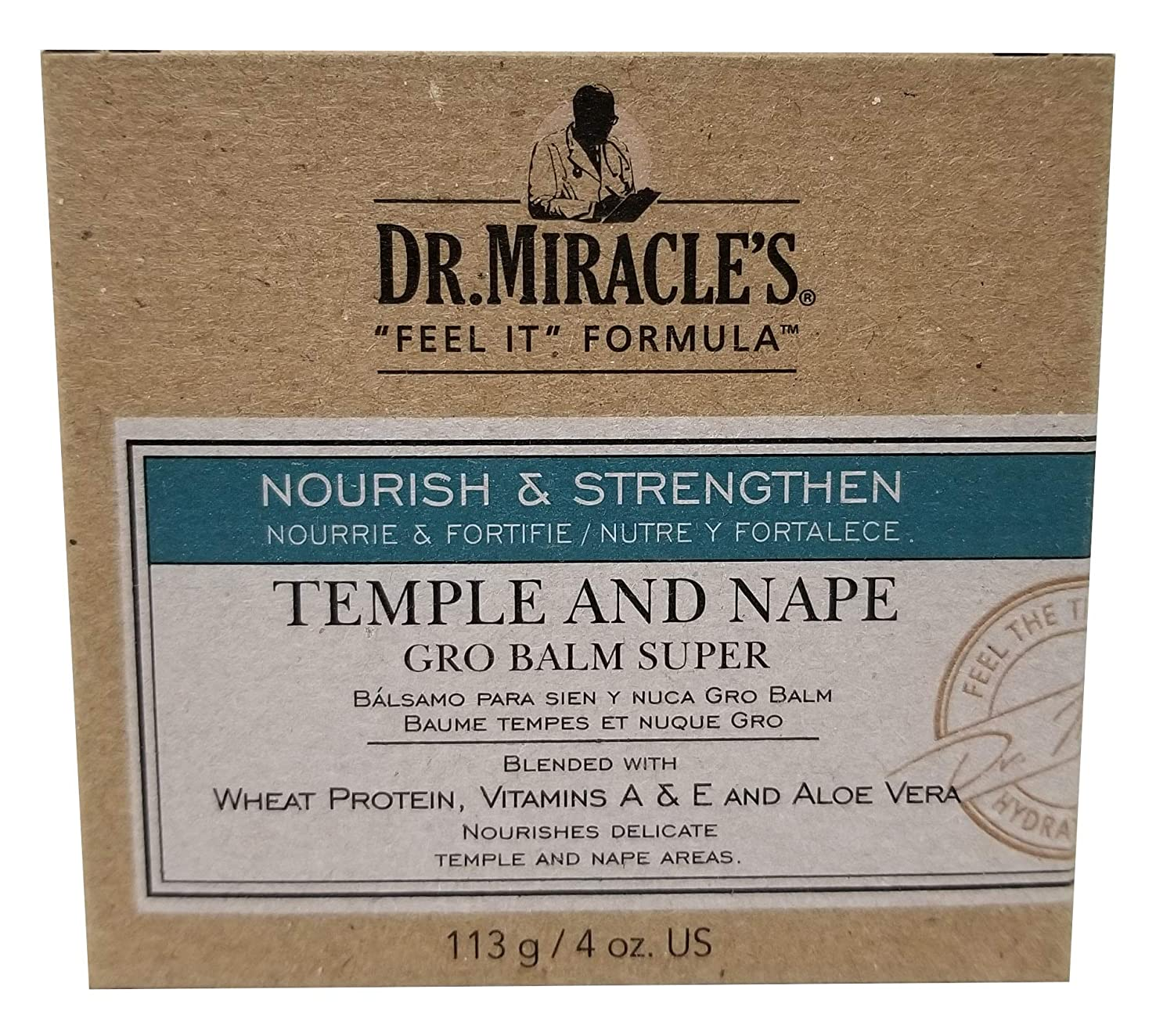 Dr. Miracle's Strengthen Temple & Nape Gro Balm Super Strength, 4 oz