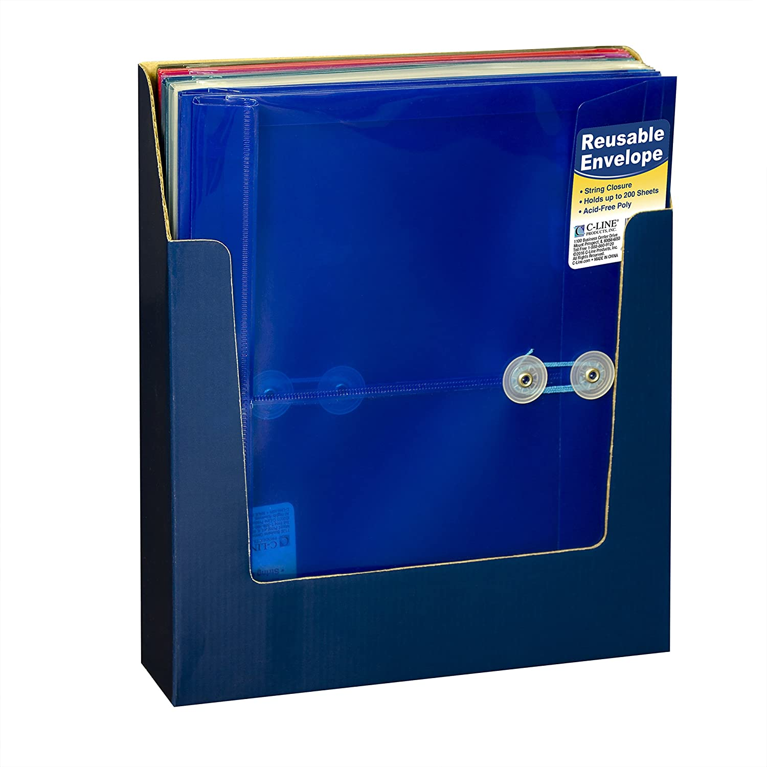 Amazoncom C Line Reusable Poly Envelope With String Closure 1