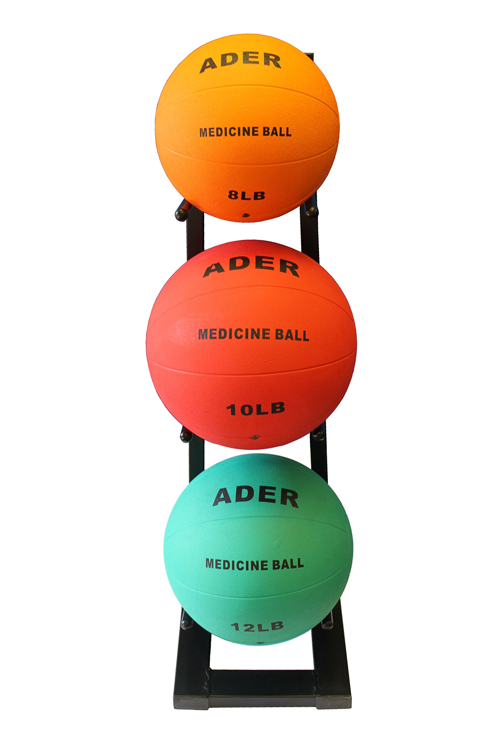 Ader Medicine Ball Set w/Rack (Rack + 8-12-25 LB Med Balls) by Ader Sporting Goods (Image #3)