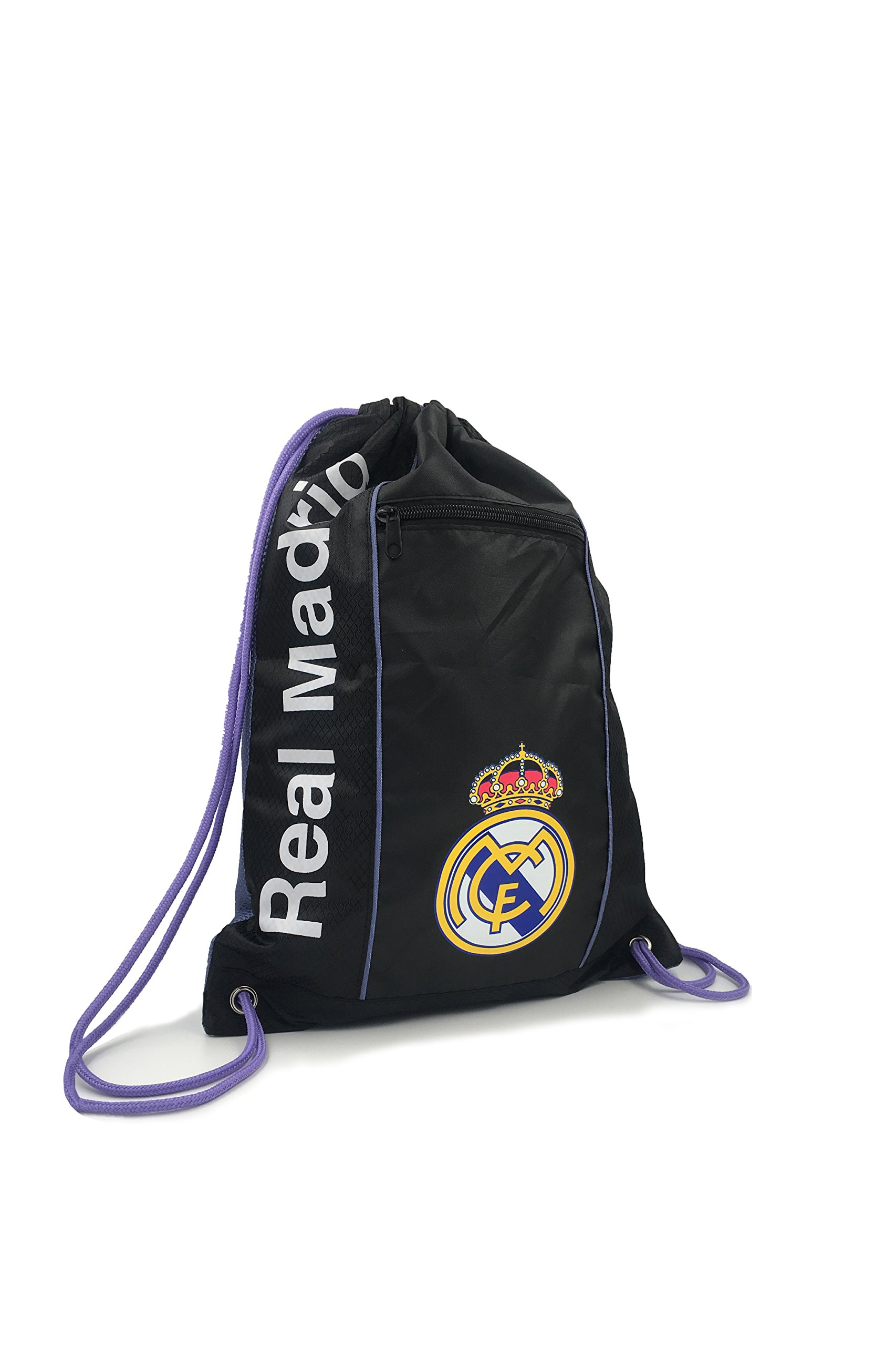 REAL MADRID Official Licensed 2017 TEAM AWAY BLACK CINCH BAG SACK by ICON SPORTS … by Icon Sports (Image #2)