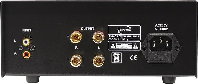 Dynavox Et 100 Stereoendstufe Schwarz Audio Hifi