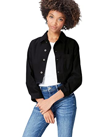 FIND Women's Jacket Raw Edge Cropped Cheap Recommend Free Shipping Top Quality Store For Sale Cheap New Arrival PQp2NUClf