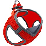 Kruz PET KZA308 Reflective V-Neck Step In Mesh Dog Harness - No Pull, Easy Walk, Quick Fit, Comfortable, Velcro-Adjustable Pe