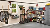 Rubbermaid Deluxe Tool Tower, Garage Storage, Holds 40 Tools, Black
