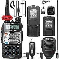 $69 » BaoFeng UV-5RM 8-Watt Ham Radio Walkie Talkie UHF VHF Dual Band 2-Way Radio with an Extra…