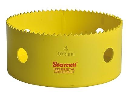 Starrett 102mm Holesaw High Speed Steel Bi-Metal Hole Saw HSS Wood Metal Plastic