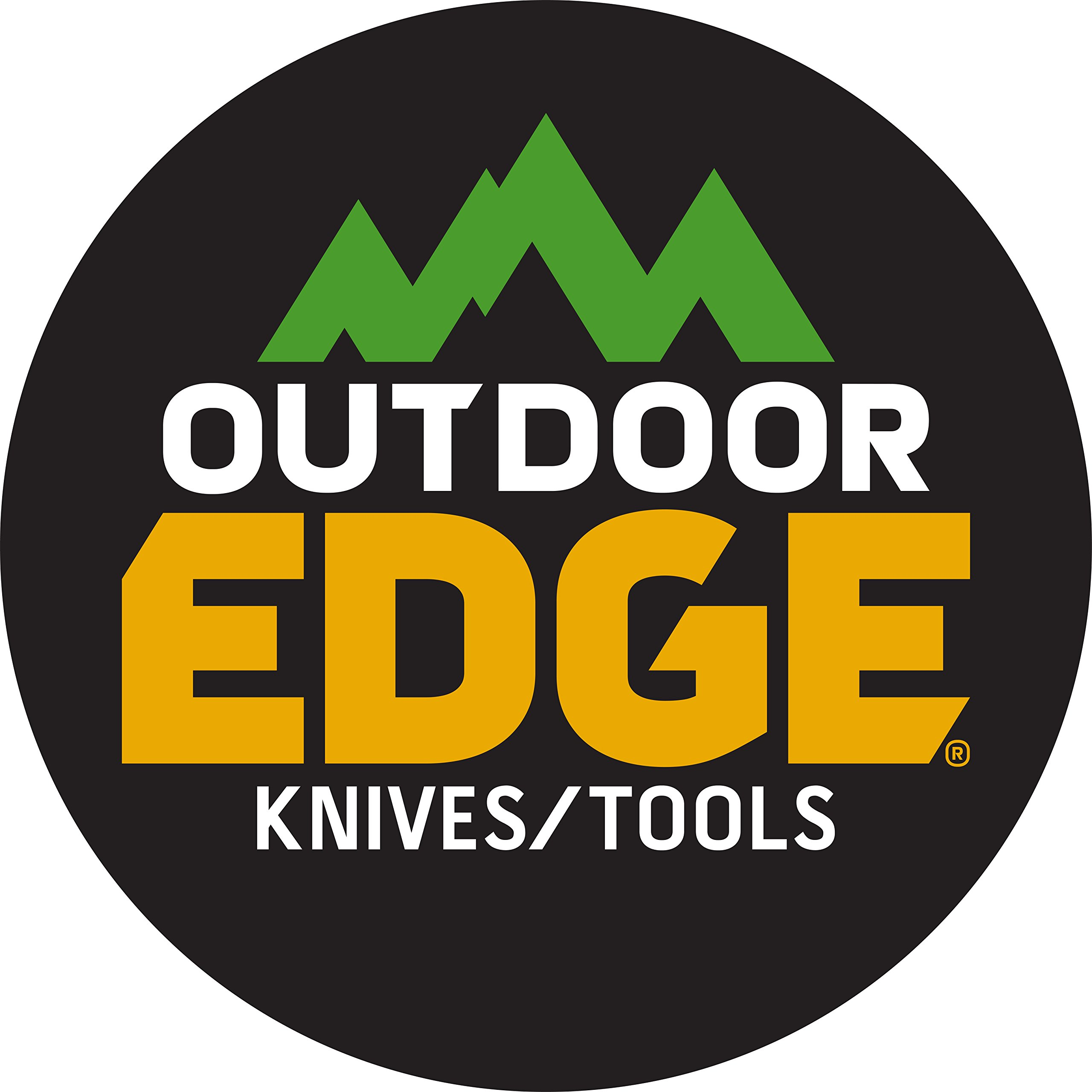 Outdoor Edge Zip Blade, ZP-10, Fixed Blade Gutting Tool for Big Game, Blaze Orange Handle