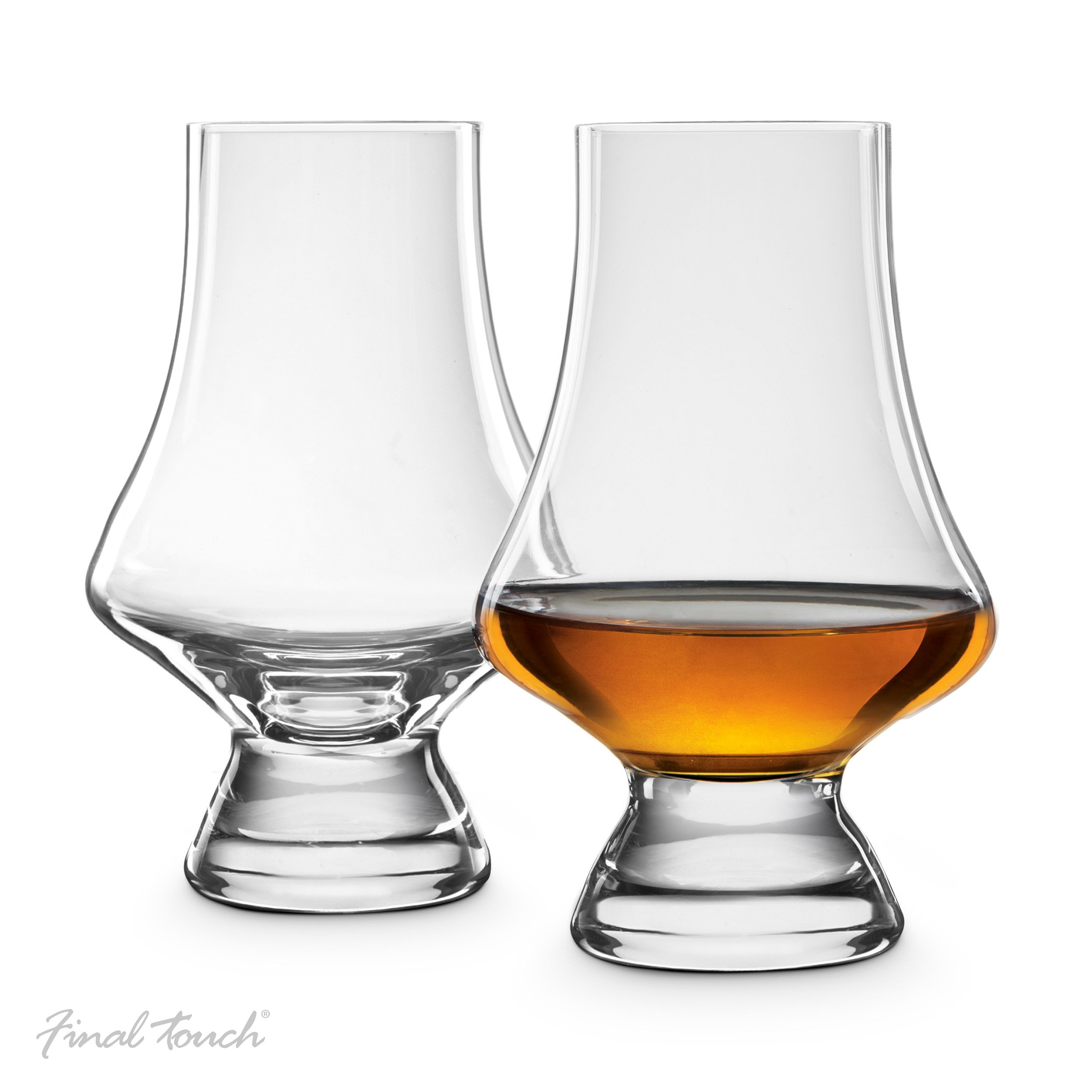 Final Touch Lead-Free Crystal Tasting Glasses - Hand Crafted for Whiskey, Set of 2