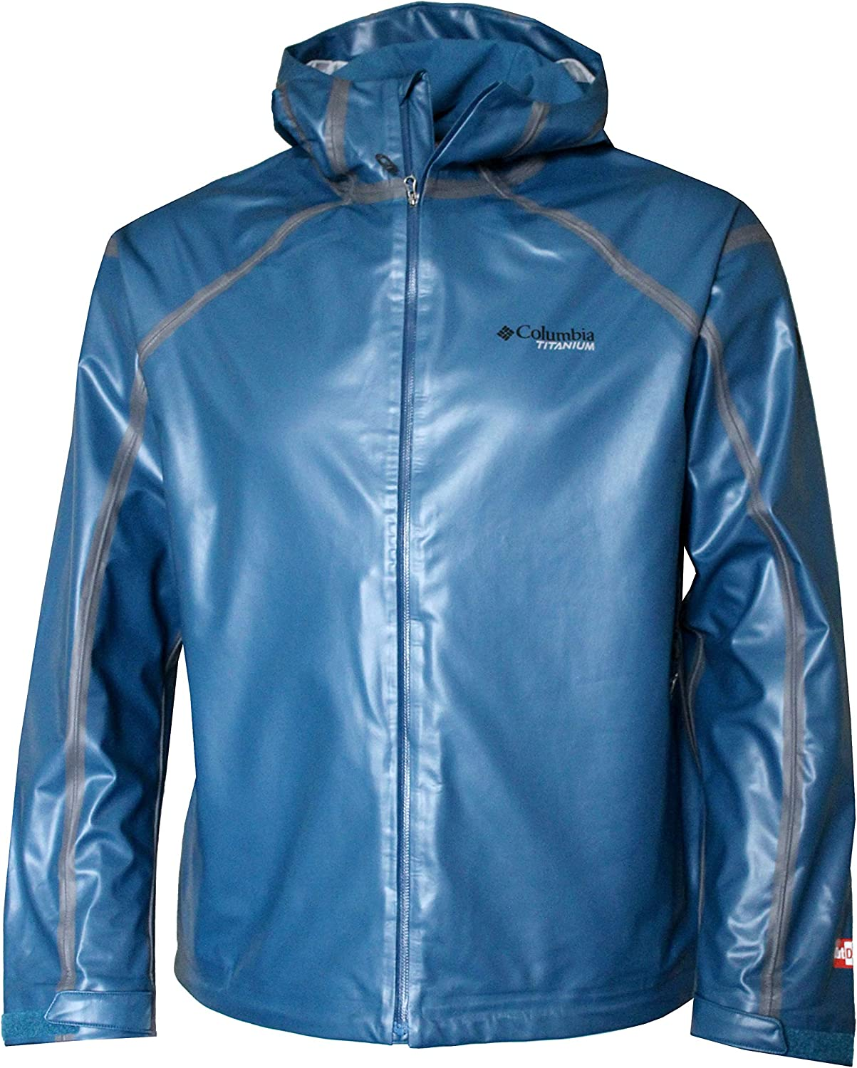 COLUMBIA NEW MEN/'S HARDY ROAD OUTDRY EXTREME TITANIUM BREATHABLE RAIN JACKET NWT