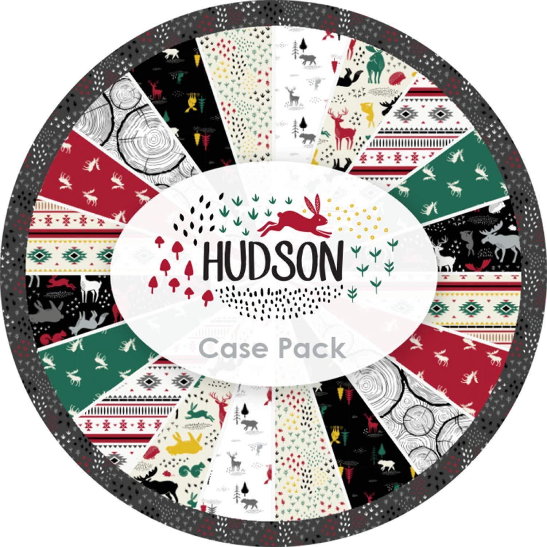 Hudson 40 die Cut 10 inch Quilting Cotton Squares Camelot Wildlife Theme