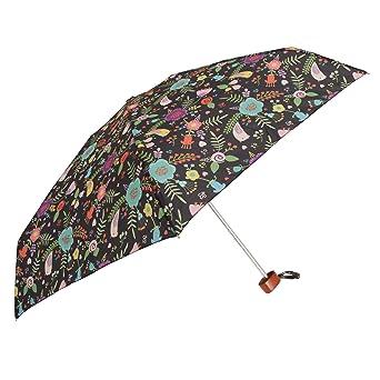 Susino - Paraguas plegable con diseño floral (Talla Única/Blanco): Amazon.es: Ropa y accesorios