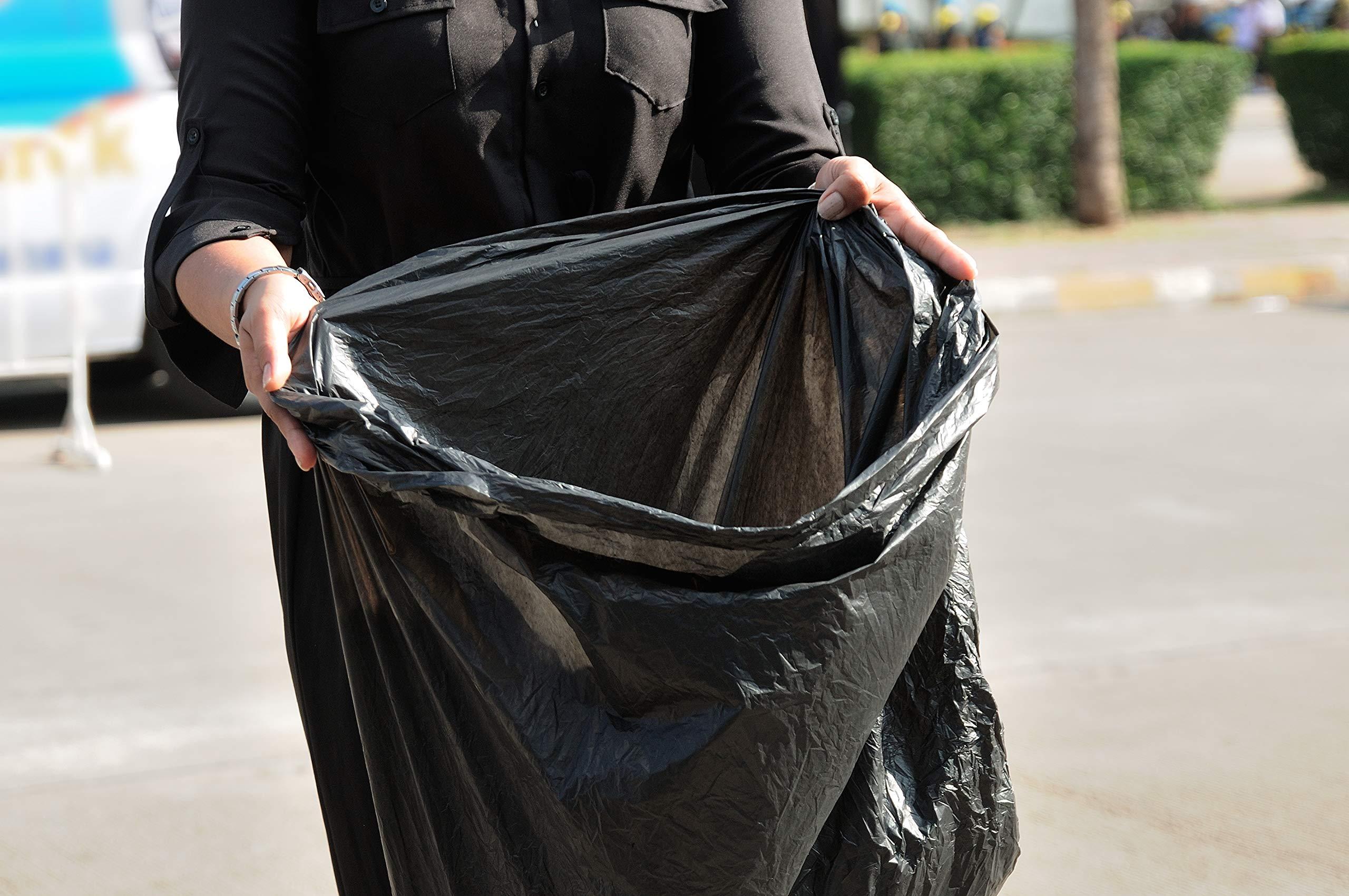 Toughbag 95 Gal Trash bags, Black, 2 Mil, 61x68, 25 Garbage Bags Per Case by ToughBag (Image #6)