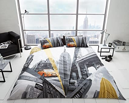 41d9c110246 3D NYC New York City Night Duvet/ Quilt Cover Sets Bedding Sets All Size (